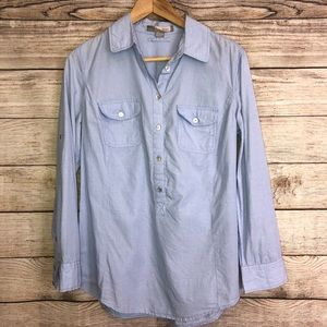Chambray Pullover Button Down Shirt